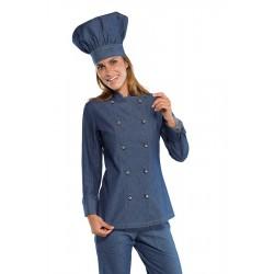 Női farmer szakácskabát