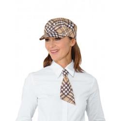 drapp kockás nyakkendő