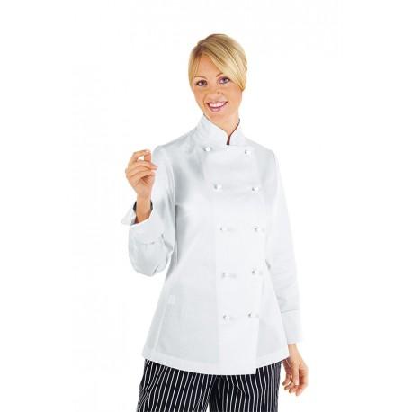 Lady Chef női szakácskabát, divatos tartós női szakácsruha pamut anyagból