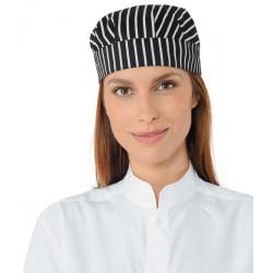 Unisex csíkos szakácssapka