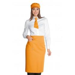 Dakar narancssárga felszolgáló kötény divatos színben